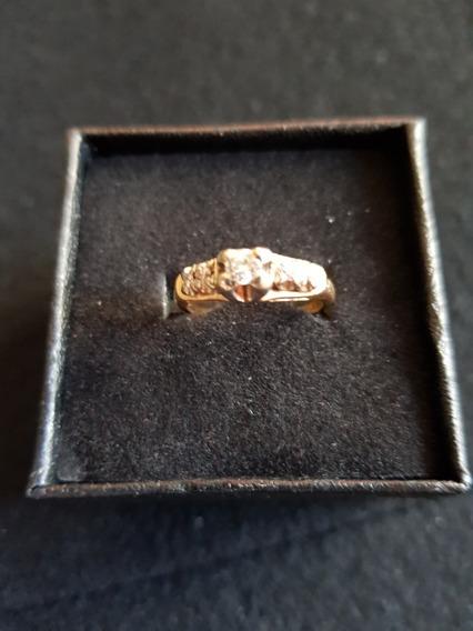 Anillo Compromiso Boda Diamantes Naturales Oro 14k Solido