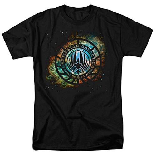 Popfunk Battlestar Galactica Logo Knock-out T Shirt  Medio
