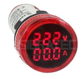 Voltimetro Amperimetro Digital 22mm 60-500vca 0-100a Verm