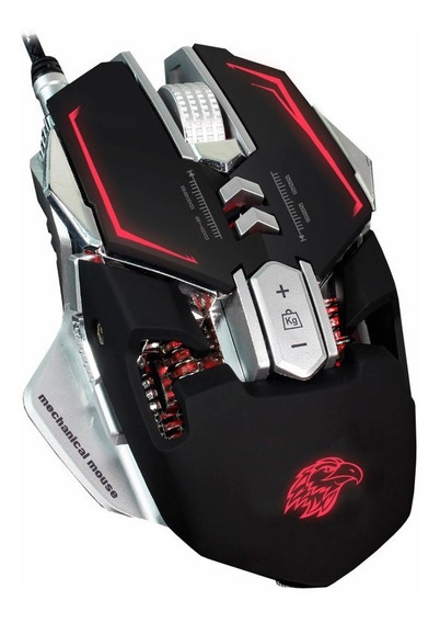 Mouse Gamer Mecânico - Mo-d837 3200dpi + Mouse Pad 31*25cm