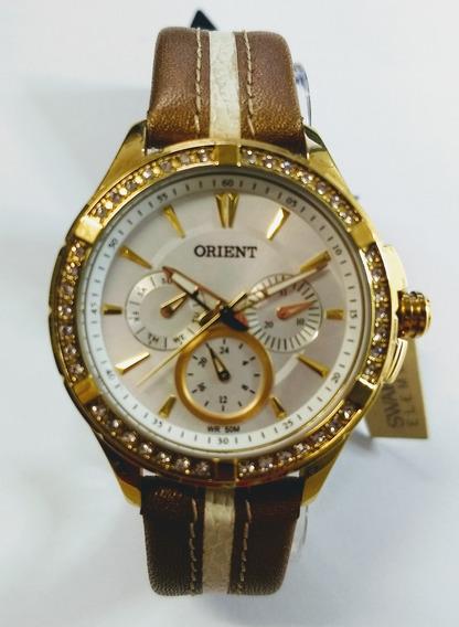 Relógio Orient C/cristais Swarovski Multifuncional Prova D