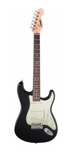 Imagen 1 de 5 de Guitarra eléctrica Leonard LE362 stratocaster de aliso black con diapasón de palo de rosa