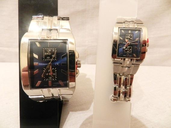 Relógio Charles Raymond Mascul/femin Quadrado Azul