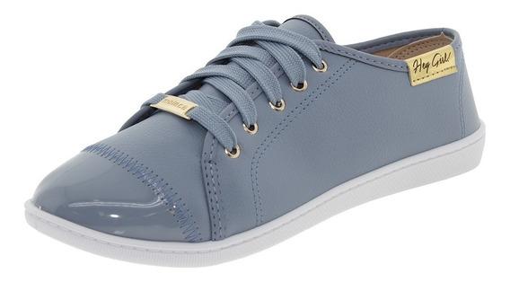 Tênis Feminino Casual Jeans Moleca - 5605112.
