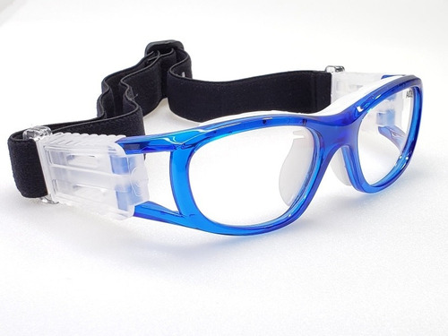 Goggle Deportivo Juvenil Para Graduar Oftalmico Futbol Azul