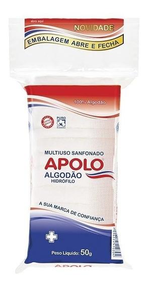 Algodão Apolo Multiuso Ziplock 50g