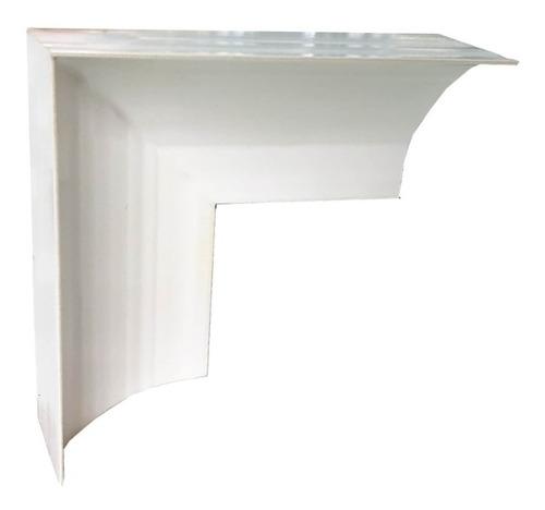 Esquinero Doble Tipo L Zoclo Curva Sanitaria Plástico Pvc