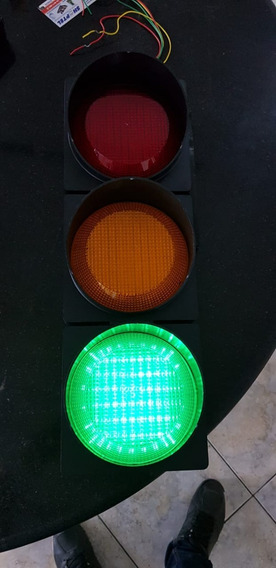 Semaforo Grande 37 Led 150mm Verde Amarelo Vermelho Cfc