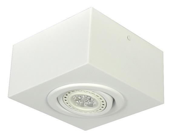 Spot Plafon Sobrepor Quadrado P/ 1 Led Dicróica Gu10
