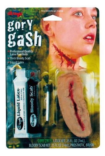 Imagen 1 de 10 de Heridas Artificiales Látex + Sangre Artificial