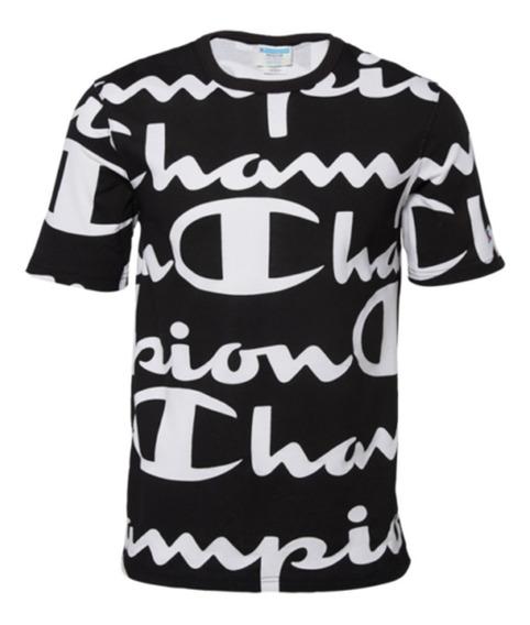 Champion Printed Heritage Script Black T-shirt