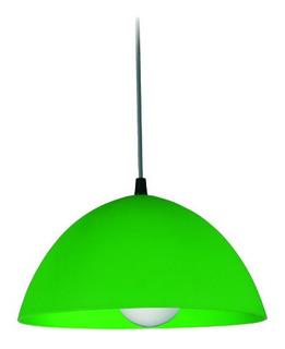 Lampara Colgante Plafon Campana Pvc 26cm Negro O Colores
