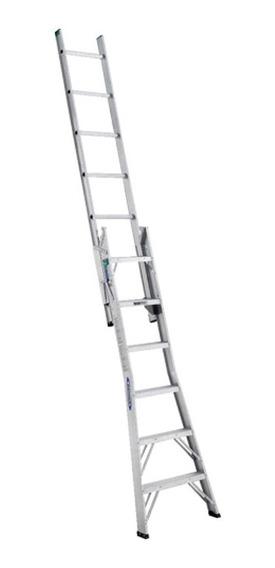 Escalera Aluminio Convertible 13 Escalones Tipo Ii Werner