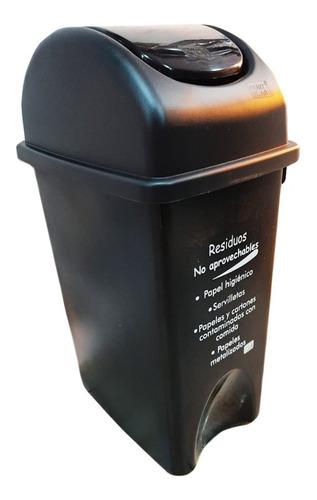 Caneca Papelera Plástica De 35 Litros Para Residuos