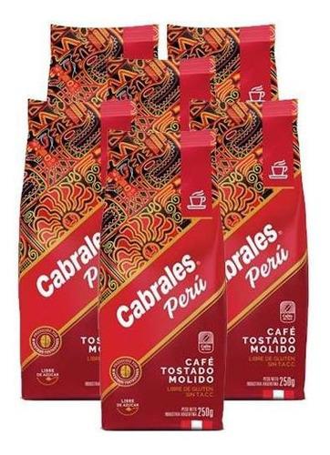 Imagen 1 de 7 de 6 X Cafe Molido Cabrales Tostado Peru X 250g 1,5kg Sin Tacc