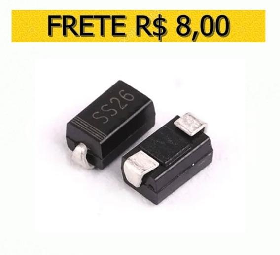 Diodo Ss26 Schottky 60v/2a Smd Original - Lote 10 Unidades