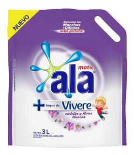Jabon Liquido Ala Violetas Y Flores Blancas X 3lt