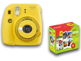 Câmera Instax Mini 9 + Filme 60 Entrega Rápida Novas Cores