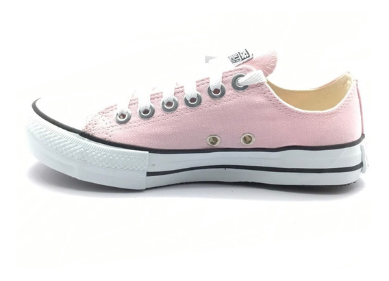Tênis Converse All Star Ct As Core Ox Cano Baixo Rosa Claro