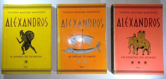 Coleção 3 Livros Aléxandros Valerio Massimo Manfredi Rocco