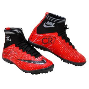 1bbe2fcb52880 Chuteira Nike Cano Alto Society Cr7 - Chuteiras Bordô no Mercado ...