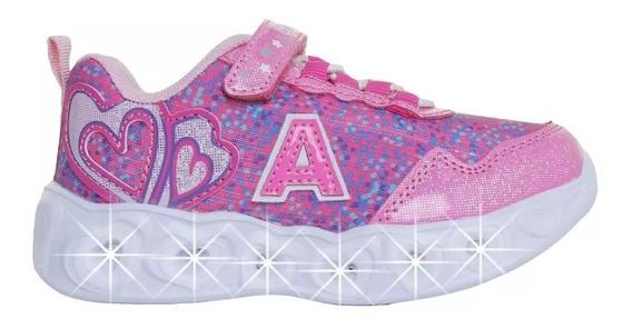 Zapatillas Addnice Corazon Moda Niña Con Luz Fty Calzados