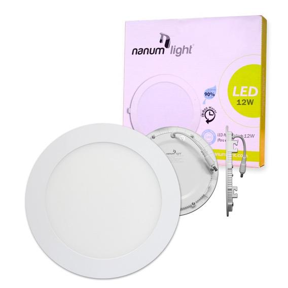 Lámpara Led Panel Redondo Para Empotrar 12w 6500k Nanumlight