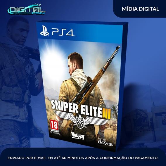 Sniper Elite Iii Ps4 Psn Jogo Digital Pt Br Envio Rapido Hj