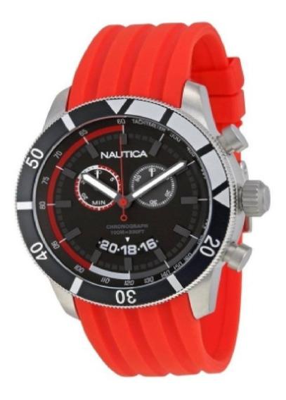 Relógio Nautica Chronograph Sporty Resina Vermelha N17584g