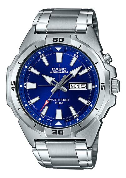 Reloj Casio Hombre Plateado Mtp-e203d-2avdf
