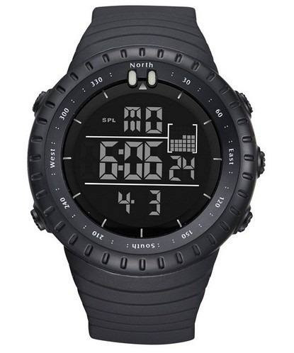 Relógio Masculino Preto Esporte Digital Água 50 Metros Led