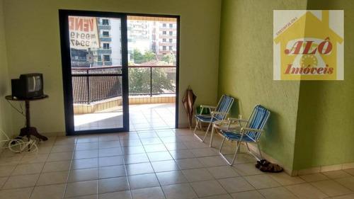 Apartamento Com 2 Dormitórios À Venda, 106 M² Por R$ 300.000,00 - Vila Guilhermina - Praia Grande/sp - Ap1073