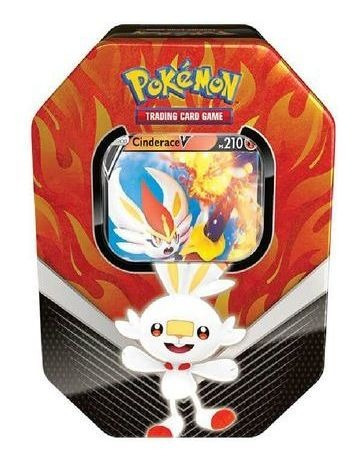 Pokémon - Lata Parceiros De Galar - Cinderace Go Cards