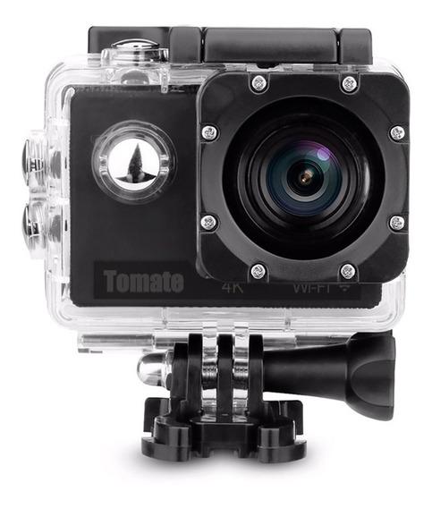 Câmera Filmadora Sport Wifi 4k Com Controle Tomate Mt-1091k