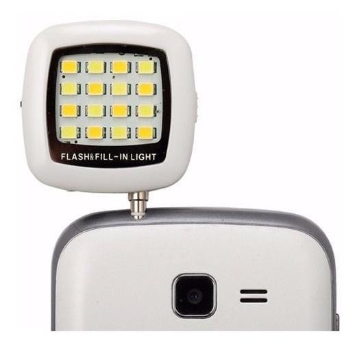 Flashi Phone Auxiliar Video Light 16 Leds Câmera De Celular