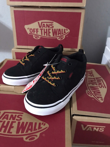Vans Jr Bishop-black-flame Talla 13!! Envío Gratis
