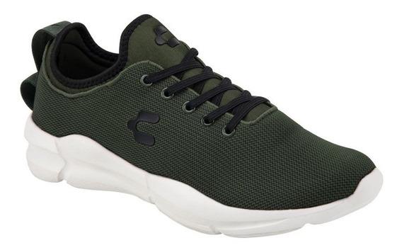 Tenis Deportivo Para Correr Charly 9673 Color Verde
