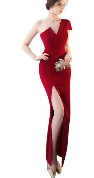 Vestidos De Dama De Honor Rojos Largo En Mercado Libre México