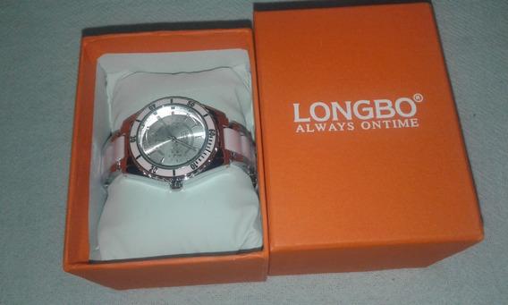 Relógio Feminino Original Longbo Rosa Aprova D