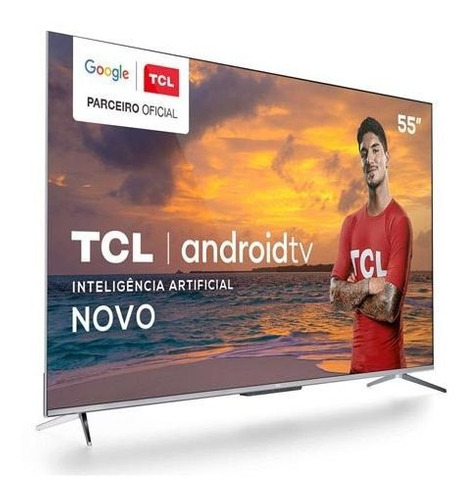 Smart Tv Tcl Led 4k 55  Android Tv Google Assistant - 55p715