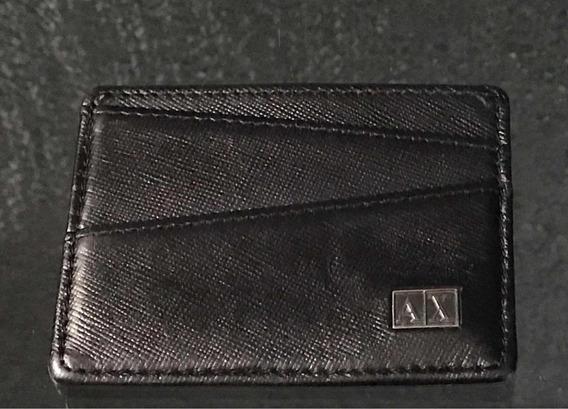 Porta Tarjetas Identificaciones Armani A/ X Original. Usado.