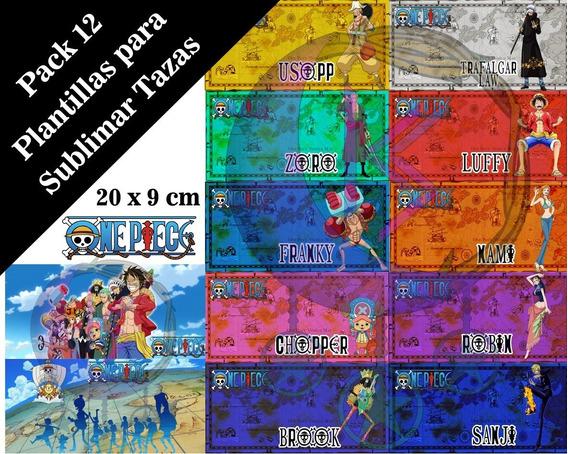Plantillas Para Sublimar Tazas One Piece V1 Anime