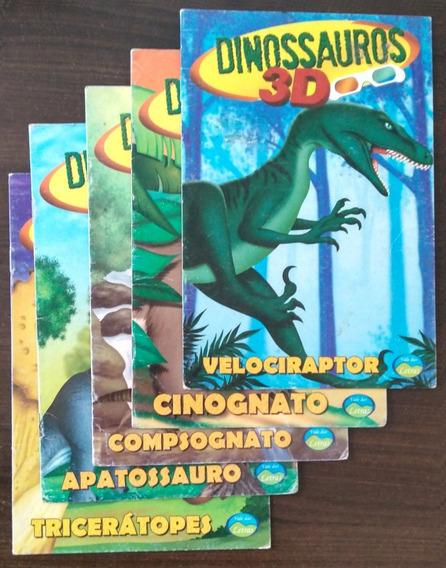 Coleção De 5 Livrinhos Infantis - Dinossauros 3d (óculos 3d)