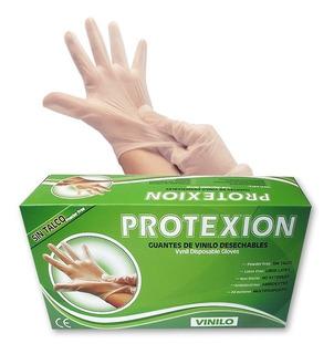 Guantes Vinilo T.s Caja X100und.protex-ion