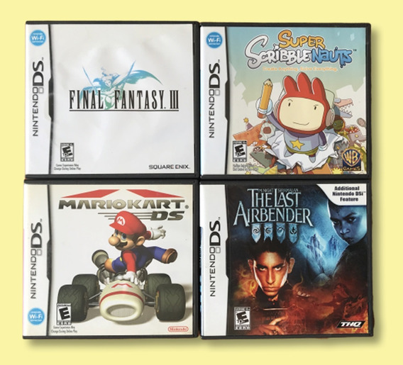 Mario Kart, The Last Airbender, Final Fantasy 3- Nintendo Ds