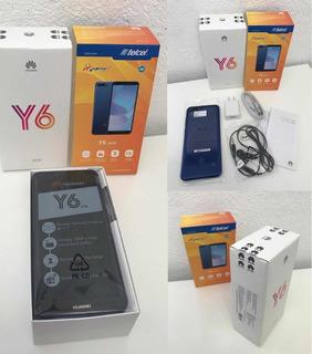 Telefono Huawei Y6 2018 Azul Telcel Nuevo Y Sellado