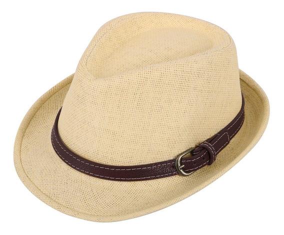 Verano Corto Borde Fedora Sombrero Paja Sombrero Para Niños