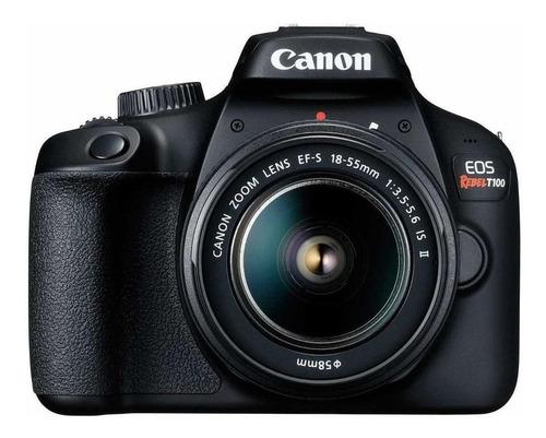 Imagen 1 de 5 de Canon EOS Rebel T100 18-55mm IS II Kit DSLR color  negro
