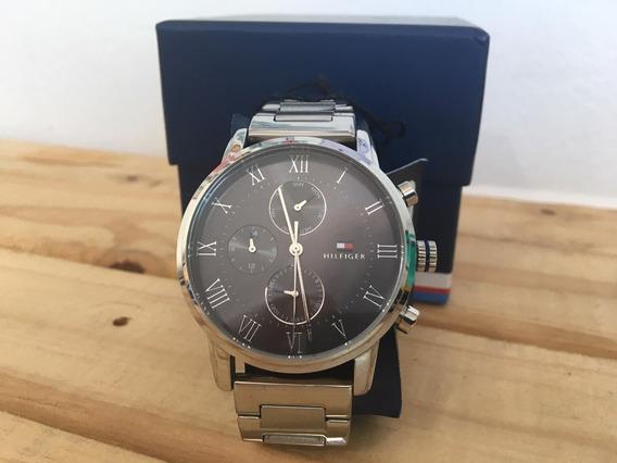 Relógio Tommy Hilfiger Masculino Aço Prata Original