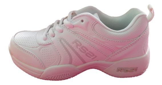 Zapatos Deportivos Escolares Unicolores Rs21 Niños 23-38